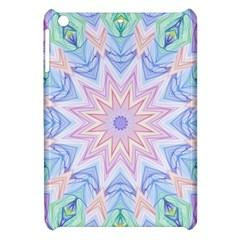 Soft Rainbow Star Mandala Apple iPad Mini Hardshell Case