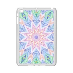 Soft Rainbow Star Mandala Apple Ipad Mini 2 Case (white) by Zandiepants