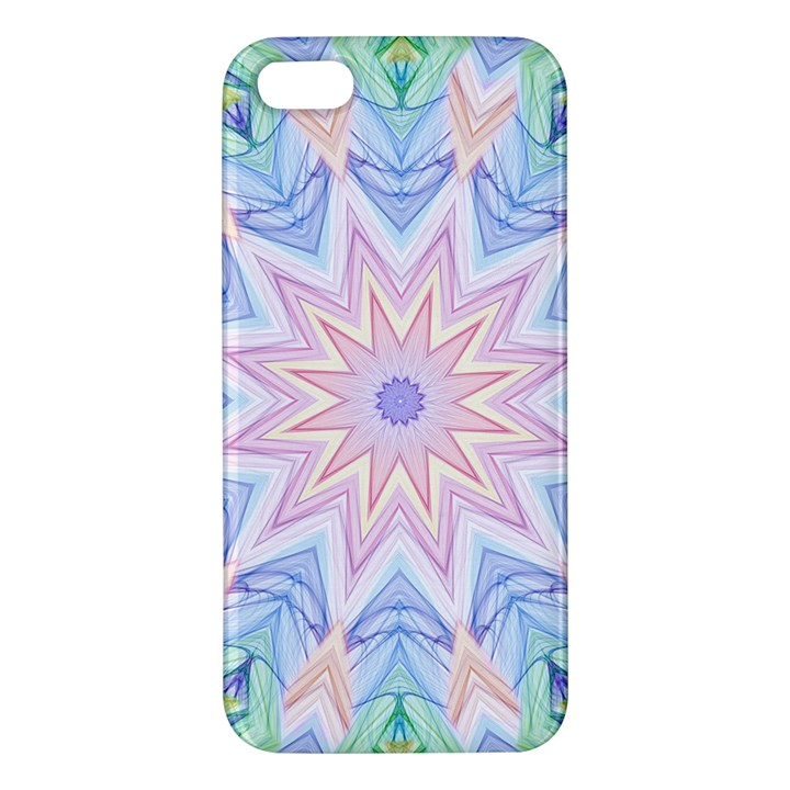 Soft Rainbow Star Mandala Apple iPhone 5 Premium Hardshell Case