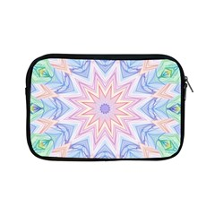 Soft Rainbow Star Mandala Apple iPad Mini Zippered Sleeve by Zandiepants