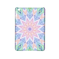 Soft Rainbow Star Mandala Apple Ipad Mini 2 Hardshell Case by Zandiepants
