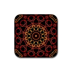 Yellow And Red Mandala Drink Coasters 4 Pack (Square) by Zandiepants