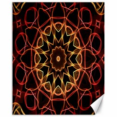 Yellow And Red Mandala Canvas 16  X 20  (unframed) by Zandiepants