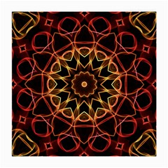 Yellow And Red Mandala Glasses Cloth (medium, Two Sided) by Zandiepants
