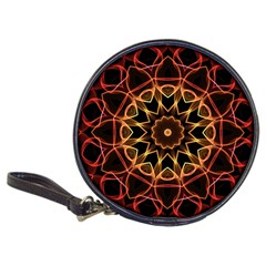 Yellow And Red Mandala Cd Wallet by Zandiepants