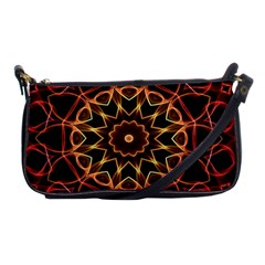 Yellow And Red Mandala Evening Bag by Zandiepants