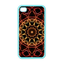 Yellow And Red Mandala Apple Iphone 4 Case (color) by Zandiepants