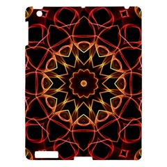 Yellow And Red Mandala Apple Ipad 3/4 Hardshell Case by Zandiepants