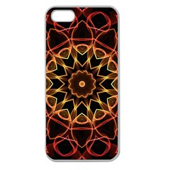 Yellow And Red Mandala Apple Seamless Iphone 5 Case (clear) by Zandiepants
