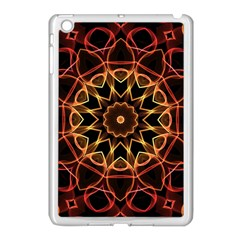 Yellow And Red Mandala Apple Ipad Mini Case (white) by Zandiepants