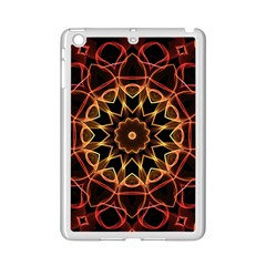 Yellow And Red Mandala Apple Ipad Mini 2 Case (white) by Zandiepants