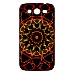 Yellow And Red Mandala Samsung Galaxy Mega 5 8 I9152 Hardshell Case  by Zandiepants