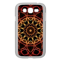 Yellow And Red Mandala Samsung Galaxy Grand Duos I9082 Case (white) by Zandiepants