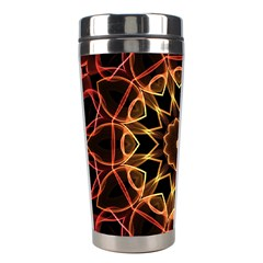 Yellow And Red Mandala Stainless Steel Travel Tumbler by Zandiepants