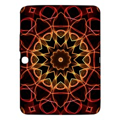 Yellow And Red Mandala Samsung Galaxy Tab 3 (10 1 ) P5200 Hardshell Case  by Zandiepants