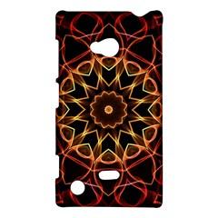 Yellow And Red Mandala Nokia Lumia 720 Hardshell Case by Zandiepants