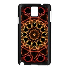 Yellow And Red Mandala Samsung Galaxy Note 3 N9005 Case (black) by Zandiepants