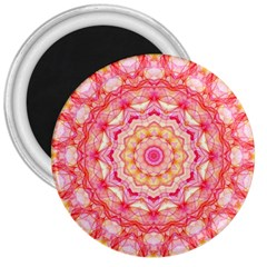 Yellow Pink Romance 3  Button Magnet by Zandiepants