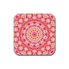 Yellow Pink Romance Drink Coasters 4 Pack (square) by Zandiepants