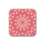 Yellow Pink Romance Drink Coasters 4 Pack (Square) Front