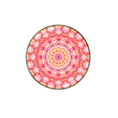 Yellow Pink Romance Golf Ball Marker 4 Pack (for Hat Clip) by Zandiepants