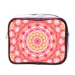 Yellow Pink Romance Mini Travel Toiletry Bag (One Side) Front