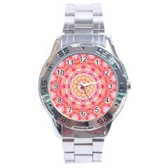 Yellow Pink Romance Stainless Steel Watch by Zandiepants