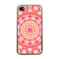 Yellow Pink Romance Apple Iphone 4 Case (clear) by Zandiepants