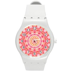 Yellow Pink Romance Plastic Sport Watch (medium) by Zandiepants