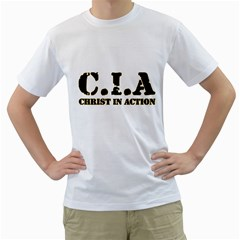 Christ In Action C I A Men s T-Shirt (White)