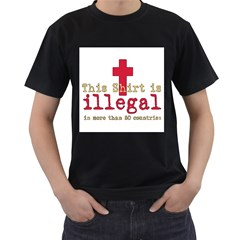 This Shirt Is Illegal Men s T Shirt (black) by Cshirts