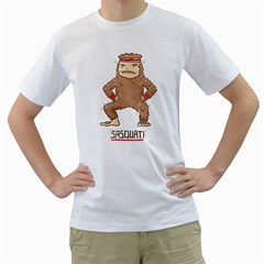 Sasquat! Men s T-Shirt (White)  by Contest1883496