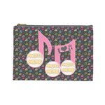 Music large cosmetic bag #2 - Cosmetic Bag (Large)