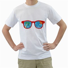Summer View Men s T Shirt (white)