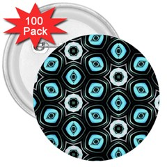 Pale Blue Elegant Retro 3  Button (100 Pack) by Colorfulart23