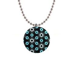 Pale Blue Elegant Retro Button Necklace