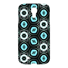 Pale Blue Elegant Retro Samsung Galaxy S4 I9500/i9505 Hardshell Case by Colorfulart23