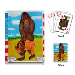 Big Foot,bison U,s,a, Flag Playing Cards Single Design by creationtruth