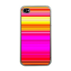 Colour Lines Apple Iphone 4 Case (clear) by Contest1630871