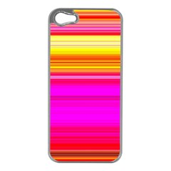 Colour Lines Apple Iphone 5 Case (silver) by Contest1630871