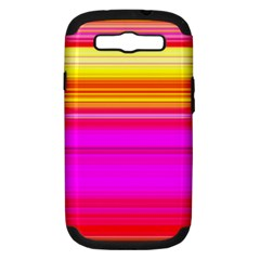 Colour Lines Samsung Galaxy S Iii Hardshell Case (pc+silicone) by Contest1630871