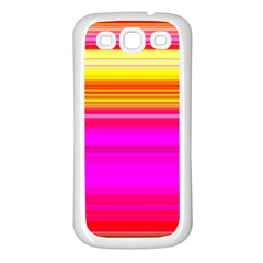 Colour Lines Samsung Galaxy S3 Back Case (white) by Contest1630871