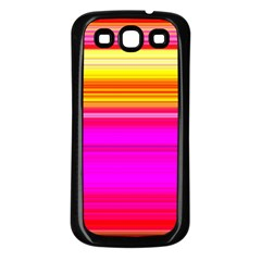 Colour Lines Samsung Galaxy S3 Back Case (black) by Contest1630871