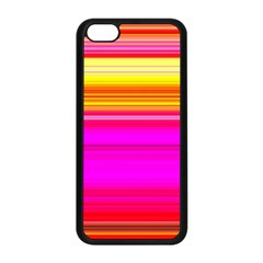 Colour Lines Apple Iphone 5c Seamless Case (black) by Contest1630871