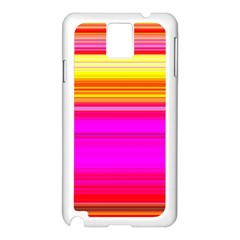 Colour Lines Samsung Galaxy Note 3 N9005 Case (white) by Contest1630871
