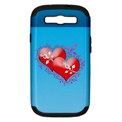 Hearts Samsung Galaxy S Iii Hardshell Case (pc+silicone) by Contest1630871