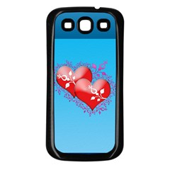 Hearts Samsung Galaxy S3 Back Case (black) by Contest1630871