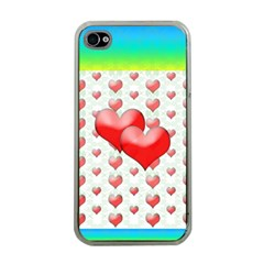 Hearts 2 Apple Iphone 4 Case (clear) by Contest1630871