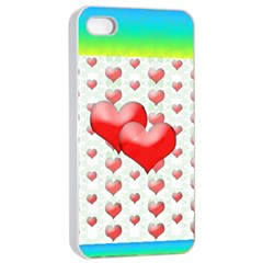 Hearts 2 Apple Iphone 4/4s Seamless Case (white) by Contest1630871