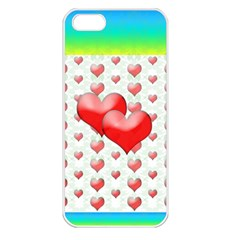 Hearts 2 Apple Iphone 5 Seamless Case (white) by Contest1630871
